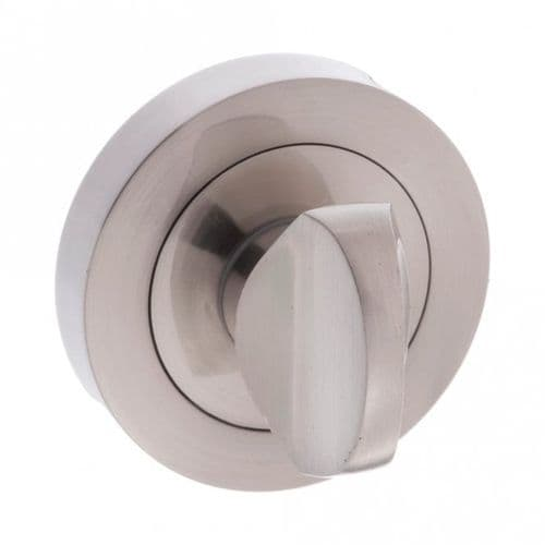 Status WC Turn And Release On Round Rose In Satin Nickel