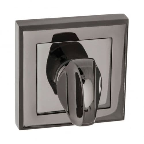 Status WC Turn And Release On Square Rose In Black Nickel