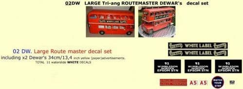 02DW LARGE Tri-ang Triang ROUTEMASTER Bus