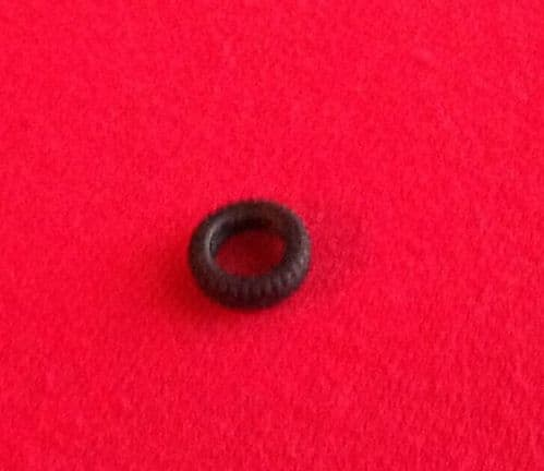 11mm Black Treaded with slot for small CIJ Tyre (Each)