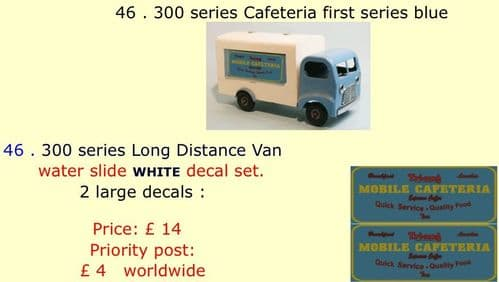 46 . Tri-ang 300 series Cafeteria first series blue
