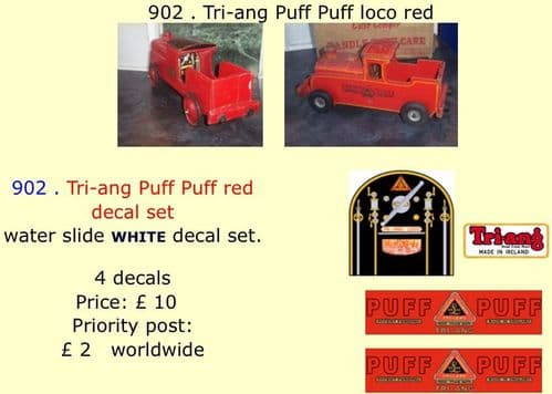 902 . Tri-ang Puff Puff loco red