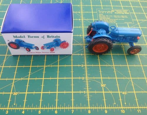 """A Britains Fordson Tractor Fordson Major DDN """"  Rubber  Wheels """" Finished in Blue copy model """""""