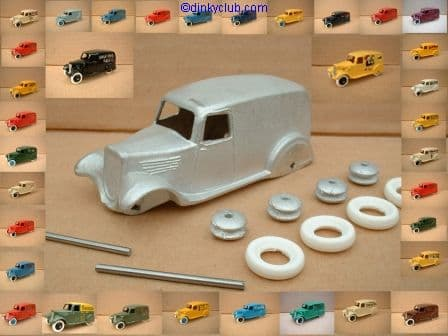A DINKY TOYS COPY MODEL 28 SERIES TYPE 2 DELIVERY VAN   [ IN KIT FORM ]