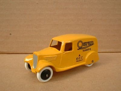 """A DINKY TOYS COPY MODEL 28 SERIES TYPE 2 DELIVERY VAN """"OSRAM LAMPS"""""""
