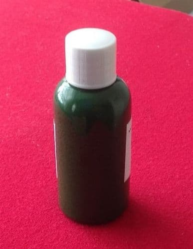 """Computer Matched 50ml Bottle of """"Dark Green"""" brush paint for Dinky Toys BBC TV Vehicles"""