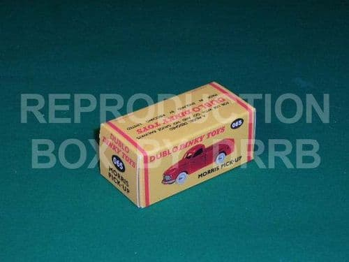 Dinky # 065 Dublo Dinky Morris Pick-up - Reproduction Box