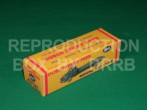 Dinky # 066 Dublo Dinky Bedford Flat Truck - Reproduction Box