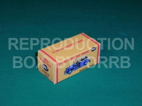 Dinky # 067 Dublo Dinky Austin Taxi - Reproduction Box