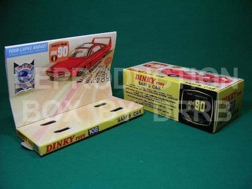 Dinky #108 Sam's Car - Reproduction Box