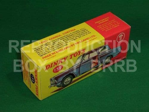 Dinky #139 Ford Consul Cortina - Reproduction Box