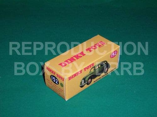 Dinky #152 Austin Devon Saloon - Reproduction Box ( Suede Green )