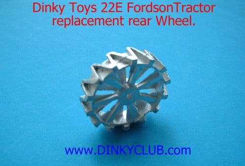 Dinky Toys 22E Farm Tractor Rear Wheel (Each)