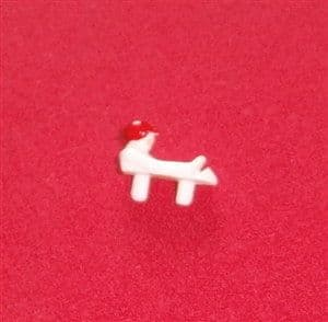 Dinky Toys 241 Lotus White plastic driver with a Red hat [Each]