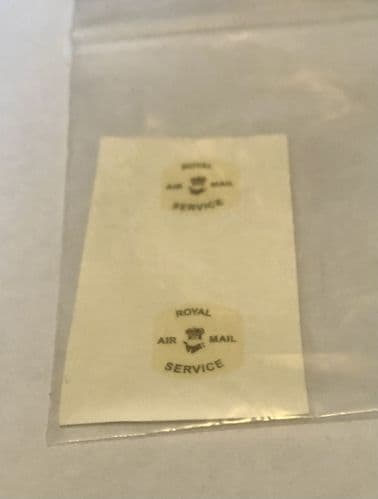 Dinky Toys 34a Royal Airmail Service Car Waterslide Decal Set
