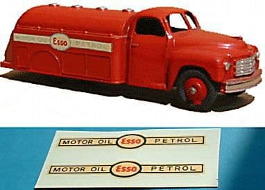 """Dinky Toys 442 Tanker """"MOTOR OIL ESSO PETROL"""" TRANSFERS / DECALS"""