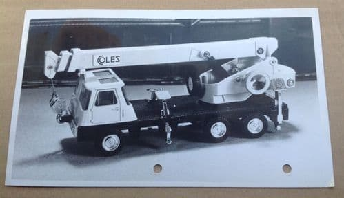 "Dinky Toys Liverpool original Press Photograph with typed introduction on the rear of photograph Dinky 980 ""Coles Hydra Truck 150T"""
