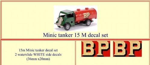 "M077B Tri-ang ( Triang ) Minic 15M "" BP "" Tanker decal set"