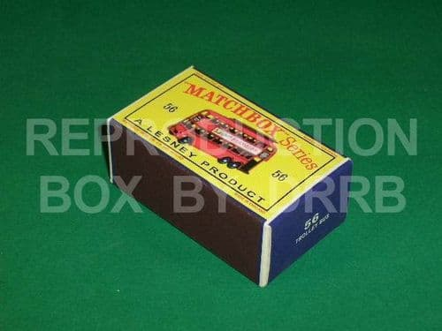 Matchbox 1-75 #56 London Trolley Bus (Lesney Product) - Reproduction Box