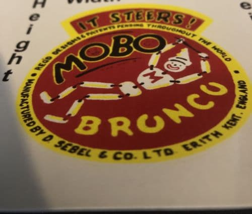 """MO2 Mobo """" BRONCO IT STEERS! """" decal"""