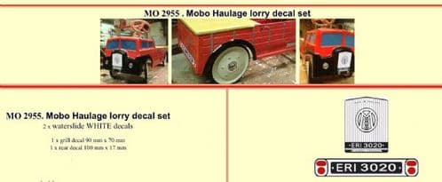 MO2955 Mobo Haulage lorry Pedal Car decal set