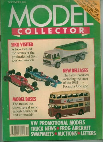 ORIGINAL MODEL COLLECTOR MAGAZINE December 1992