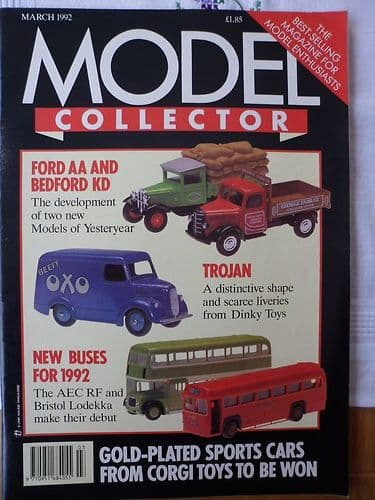 ORIGINAL MODEL COLLECTOR MAGAZINE March 1992