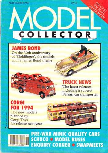 ORIGINAL MODEL COLLECTOR MAGAZINE November 1993
