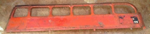Original Tri-ang / Triang Large pressed steel Double decker Top Left hand side panel Red [ price is per panel ]