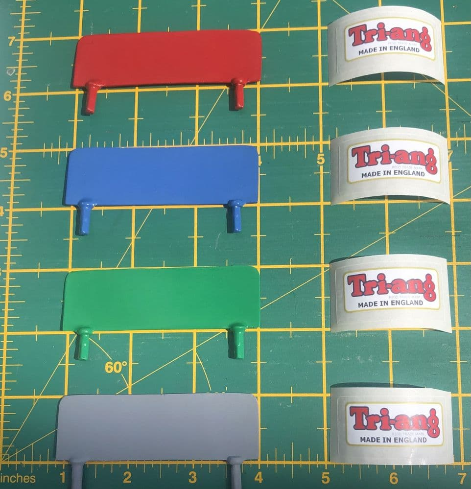 Tri-ang  / Triang Junior Replacement painted metal Headboards in a choice of 4 different finishes.