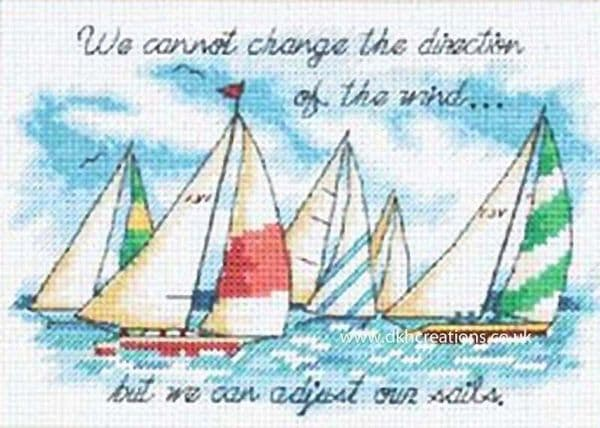 Adjusting Our Sails Cross Stitch Kit