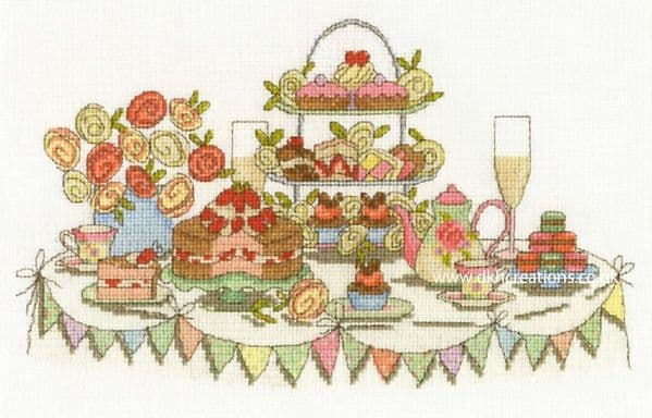 Afternoon Tea Party Cross Stitch Kit