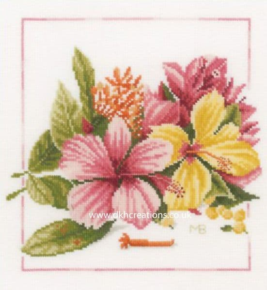 Amaryllis Bouquet Cross Stitch Kit