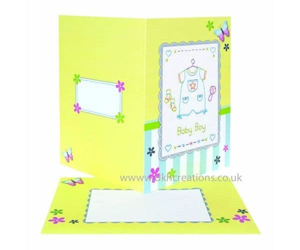 Baby Boy Embroidery Card Kit