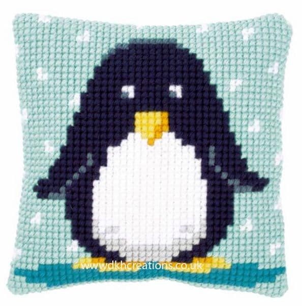 Baby Penguin Cushion Front Cross Stitch Kit