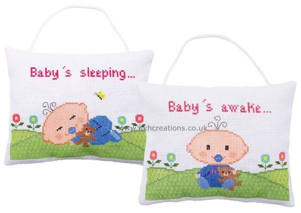 Baby Signs Baby Is Sleeping Or Awake  Is Cross Stitch Kit