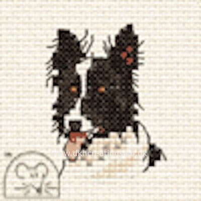 Border Collie  Dog Cross Stitch Kit