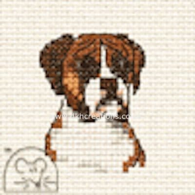 Boxer  Dog Cross Stitch Kit