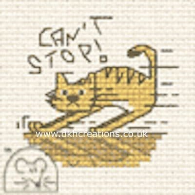 Can't Stop Biscuit The Cat Cross Stitch Kit