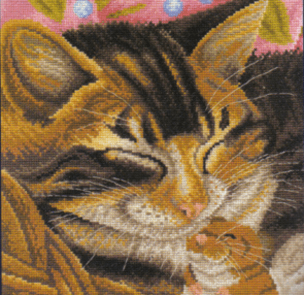 Cat and Mouse Cross Stitch Kit
