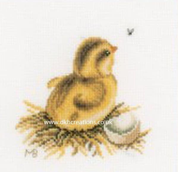 Chick With Egg Shell I Cross Stitch Kit