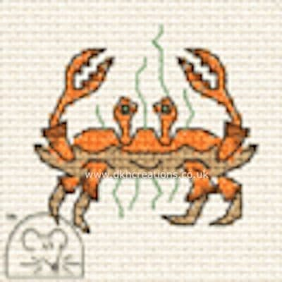Crab  By The Seaside Cross Stitch Kit