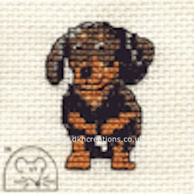 Dachshund Dog Cross Stitch Kit