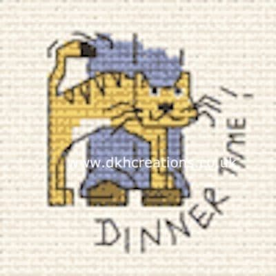 Dinner Time Biscuit The Cat Cross Stitch Kit