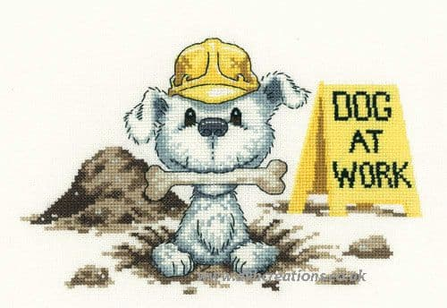 Dog At Work Cross Stitch Kit