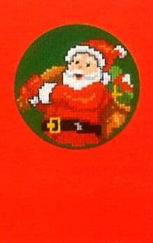 Father Christmas With Presents Greeting  Card Cross Stitch Kit
