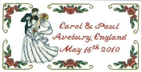 First Dance Wedding Sampler Cross Stitch Kit