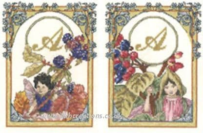 Flower Fairies Autumn  Blackberry & Wayfaring Tree Fairy Cross Stitch Kit