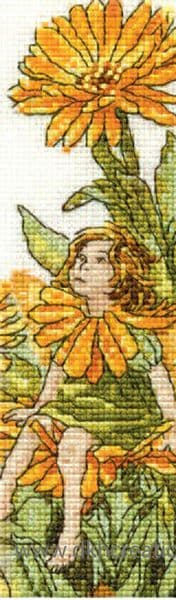Flower Fairies Marigold Fairy Bookmark Cross Stitch Kit