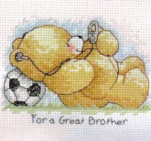 Forever Friends For A Great Brother Cross Stitch Kit